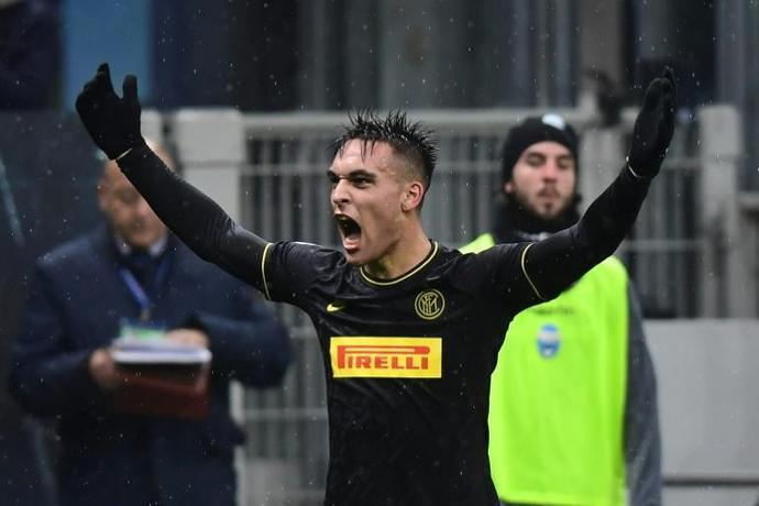 Argentinian forward Lautaro Martinez has scored 13 goals in 20 games for Inter Milan this season