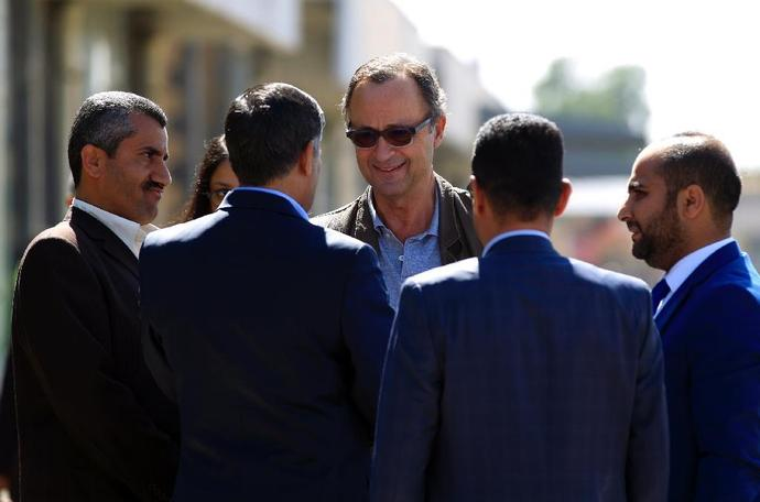 Retired Dutch general Patrick Cammaert, who will head the proposed new UN mission for Yemen, arrived in Sanaa on December 23, 2018 to lead an advance team