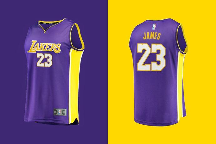 separation shoes ddb27 c51b2 LeBron James's L.A. Lakers Jersey Is Already a Best-Seller