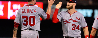Bryce Harper drives in 3, Nationals snap skid, beat Cardinals 5-4