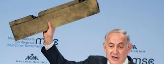 Netanyahu brandishes remnants of Iranian drone shot down in Israel as he warns against 'dangerous Iran tiger'
