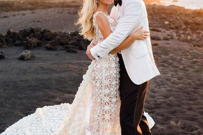 The Real Housewives Of Beverly Hills Camille Grammer Is Married See Her Wedding Photo,Wedding Guest Flower Girl Dresses 2020