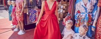 Floravere Debuts Red Wedding Dress Inspired by   Crazy Rich Asians