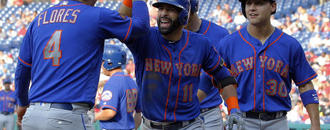 Bautista drives in 7, Mets set record in 24-4 win over Phils
