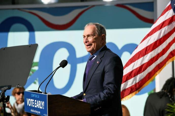 U.S. presidential candidate Bloomberg endorsed by three black lawmakers