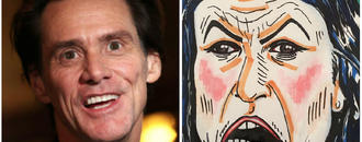 Jim Carrey Starts Controversy With Painting That Looks Like Sarah Huckabee Sanders