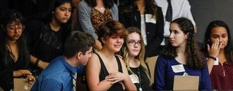 Florida school massacre survivors push lawmakers for assault gun ban
