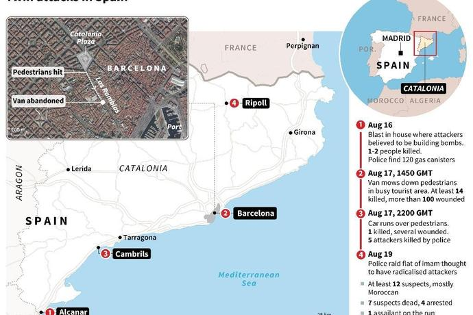 Alcanar Spain Map.Behind Olive Trees Spain Terror Cell S Bomb Factory