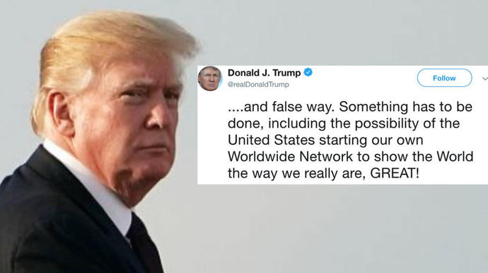 President Donald Trump has yet against waged a Twitter attack on CNN,