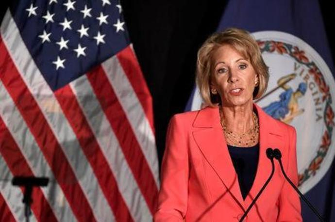 Education Sec DeVos delivers major policy address on Title IX enforcement