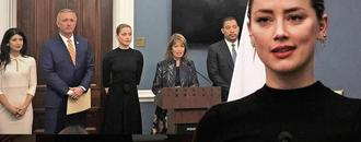 Amber Heard Speaks at U.S. Capitol to Support Revenge Porn Bill