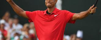 Tiger Woods wins Tour Championship by two strokes - his first title for five years