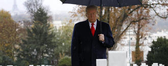 Trump Blames Secret Service For Missing WWI Ceremony Because Of Rain