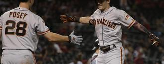 Mike Yastrzemski has seen power surge in first season with Giants
