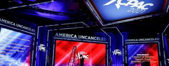 Hyatt Hotels said it is taking claims the CPAC stage was inspired by a Nazi rune