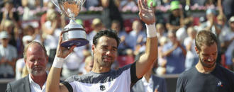 Clay-loving Fognini beats Gasquet in Swedish Open final