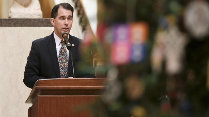 A top Republican businessman in Wisconsin is urging Gov. Scott Walker (R) and