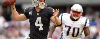 Raiders QB Derek Carr to face Patriots early in what could be bounce-back season