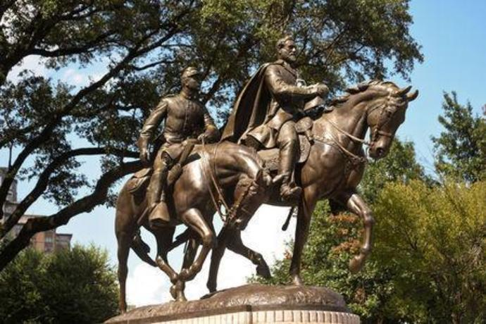FILE PHOTO: The statue of Robert E. Lee is seen in Dallas