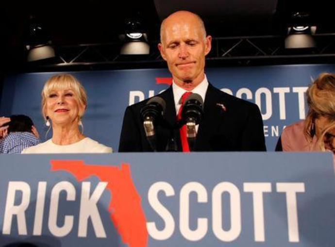 FILE PHOTO: Republican U.S. Senate candidate  Scott appears at his midterm election night party in Naples