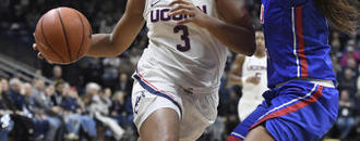 Samuelson, Collier lead No. 3 UConn women past SMU 79-39