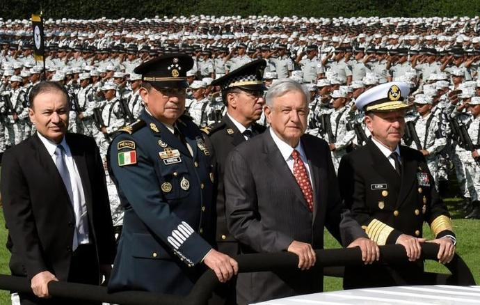 Mexican President Andres Manuel Lopez Obrador attends a ceremony in June 2019
