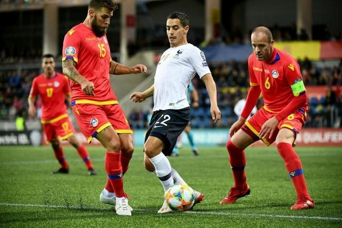 Wissam Ben Yedder scored his one international goal as France beat Andorra in Euro 2020 qualifying in June