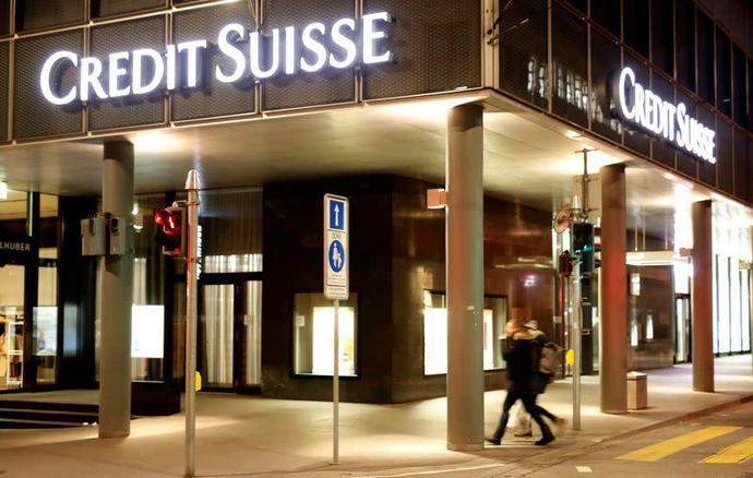 Logo of Swiss bank Credit Suisse is seen in Basel
