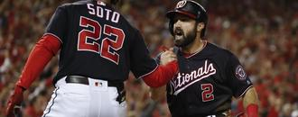Strasburg Ks 12, Nats top Cards 8-1; 1 win from World Series