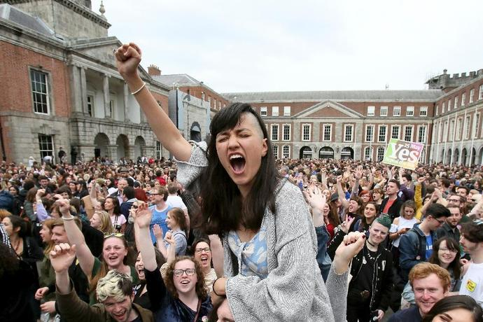 Ireland voted by a landslide to ditch its strict abortion laws, with eyes now on British-ruled Northern Ireland