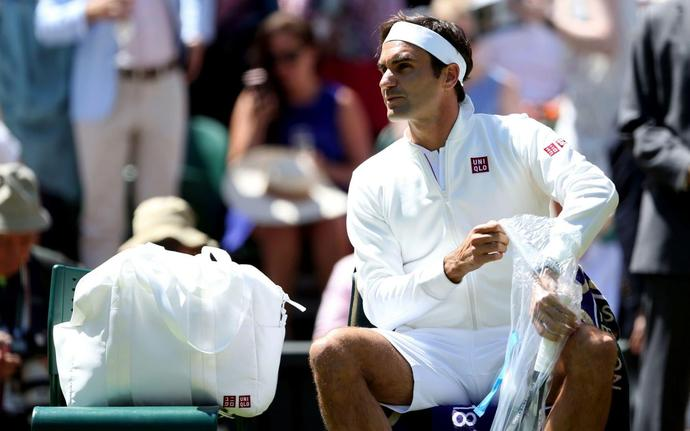 07fe0d5f8d8 Roger Federer wears Uniqlo at Wimbledon after splitting with Nike - but  cannot use his  RF  clothing logo