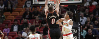 Heat use 22-0 late run to top Hawks, 135-121 in OT