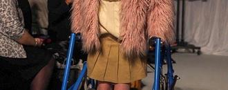 Formerly wheelchair-bound girl with cerebral palsy walks runway 1 year after life-changing surgery
