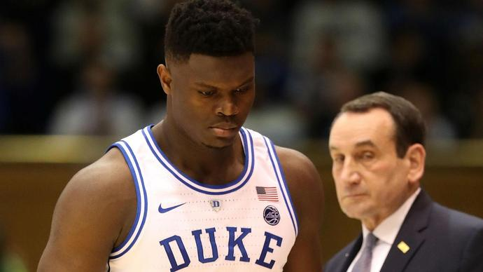 Duke players, Coach K react to Zion Williamson