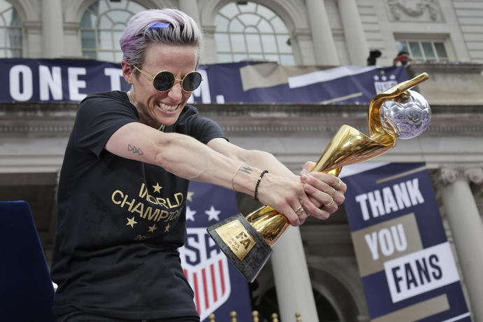 NYC police probe defaced Rapinoe posters