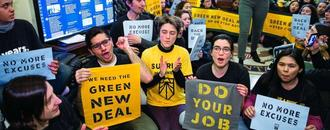 Activists again demand Green New Deal; stage demonstration at Dem leaders