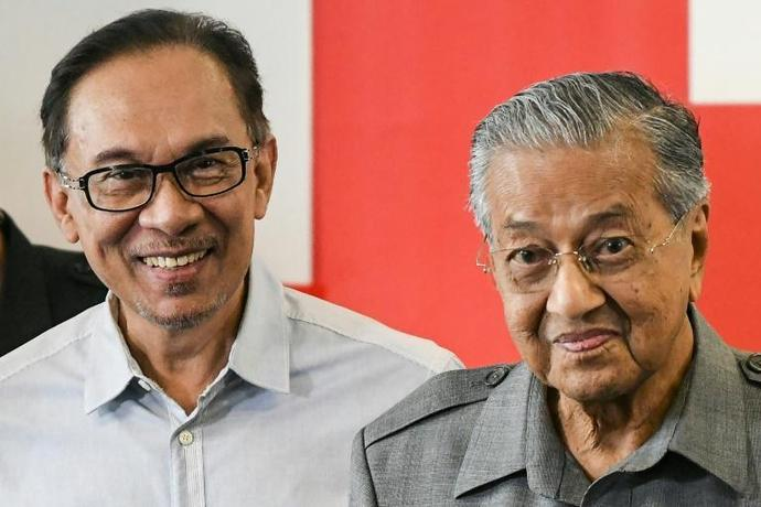 The stormy relationship the two men dates back to the 1990s when Mahathir Mohamad (R) sacked Anwar Ibrahim (L) as his deputy, and he was jailed on dubious sodomy charges