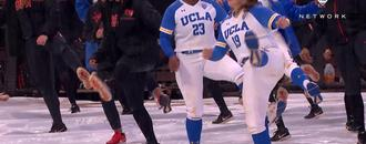 Oregon State, UCLA softball have comical dance party during rain delay in Corvallis