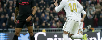 Casemiro scores 2 as Madrid beats Sevilla 2-1