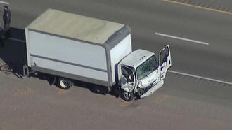 A box truck collided with a group of cyclists, killing five, near Las Vegas on Dec.