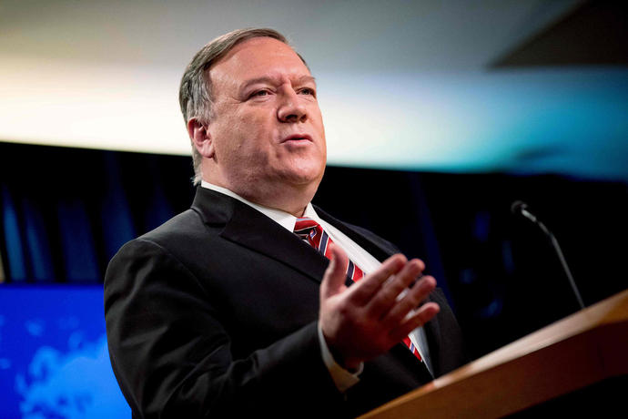 Pompeo asks UN to extend an international arms embargo on Iran