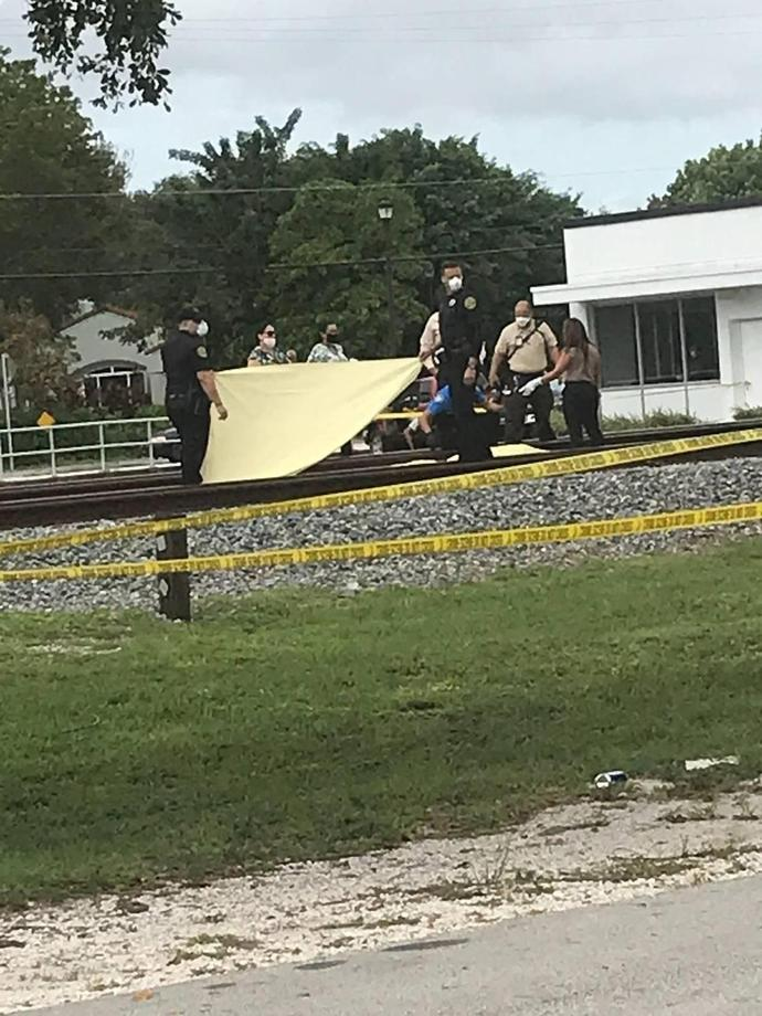 Man running from police on domestic violence call hit by train and killed, police say