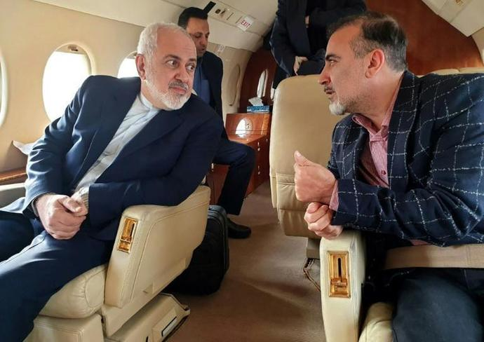 A handout picture released by the Iranian Foreign Minister