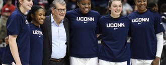 UConn women win 7th straight AAC title, top UCF 66-53