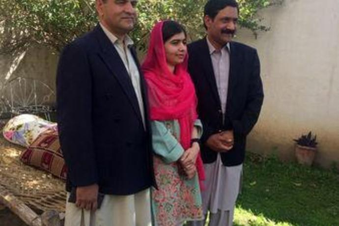 Nobel winner Malala visits hometown in Pakistan for first