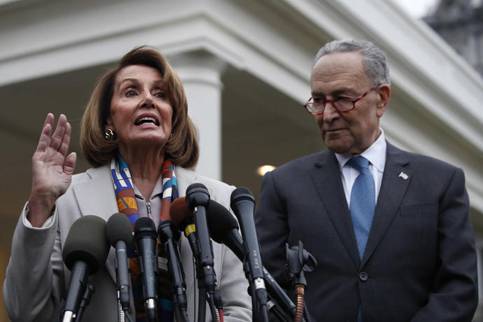 The Latest: Pelosi not ruling out impeachment proceedings