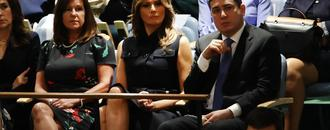 Is Melania Trump trolling the president by wearing black in solidarity with sexual assault survivors? The internet thinks so.