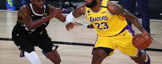 LeBron James pulls aside Jerami Grant after Lakers advance to NBA Finals