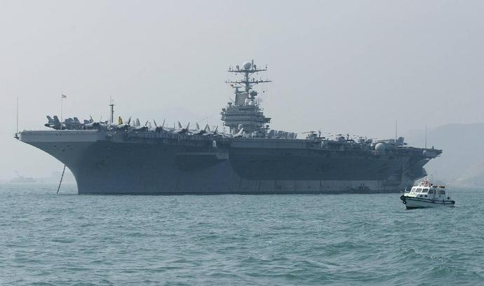 The United States says it is deploying the USS Abraham Lincoln, seen here in December 2004, in response to