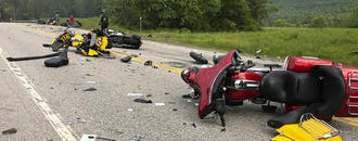 The Latest: Biker crash suspect had past drunk driving count